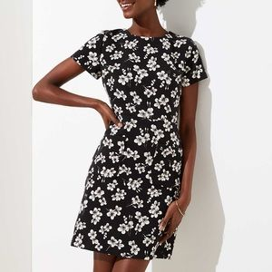 NEW! LOFT Black Petite Magnolia Patch Pocket Dress